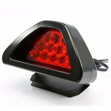 F1 style 12 Red LED Rear Tail Brake Stop Light Third Strobe Fog DRL Red Lens