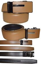 Men's belt. Leather Dress Belt Automatic lock Click Comfort New Buckle UP to 50""