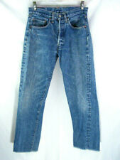 Vintage Levi's 501 Selvedge Redline Single Stitch Blue Denim Jeans Men's 29x29