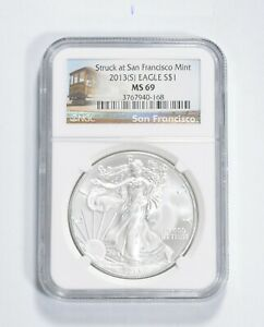 MS69 2013-(S) American Silver Eagle - San Francisco - Graded NGC *391