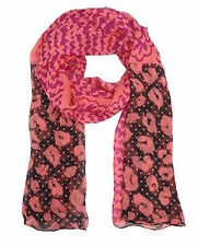 Juicy Couture Scarf Patchwork Silk Chiffon Oblong NEW $98