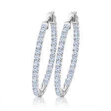 3 Colors 35mm Big Hoop Huggie Earrings AAA Cubic Zirconia Women's Jewelry Gift