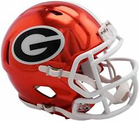 GEORGIA BULLDOGS CHROME RIDDELL SPEED FOOTBALL MINI HELMET 8055087