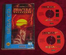 SEGA MEGA CD - DRACULA UNLEASHED! USA VERSION COMPLETE LONGBOX WORKING PERFECTLY