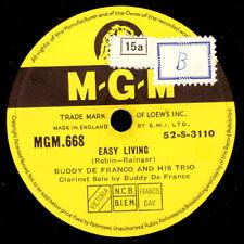 Buddy De Franco Trio Easy Living/Quartet Get Happy 78 tr/min Modern-Jazz x3143