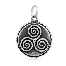 316L Stainless Steel Celtic Spiral Triskele Pendant no chain