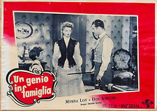 FOTOBUSTA 2, UN GENIO IN FAMIGLIA So Goes My Love MIRNA LOY, DON AMECHE POSTER