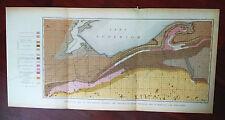 Late 1800s Geological Sketch Map, Region Between The Ontonagon River, Michigan