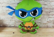 """Teenage Mutant Ninja Turtles ~ 10"""" LEONARDO PLUSH  Caricature Style NIckelodeon"""