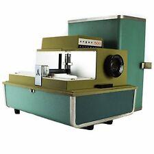 ARGUS 500 35mm Vintage Home Powered Lighted Slide Projector Vintage Case Green