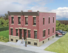 Walthers Cornerstone HO Scale Building/Structure Kit Brick Row House/Home