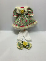 """Vintage Victorian doll Cloth Little Girl Style Doll Dress outfit for 14/16"""" Doll"""