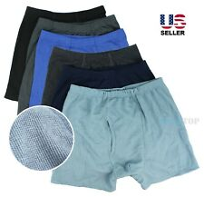 Lot 3 Pack Mens Boxer Briefs Cotton Breathable Underwear Tagless Fly-Front Soft