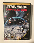 Star Wars Empire At War Cd-rom Pc Computer Game Strategy Complete Disc 1 & 2