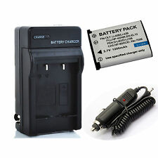 Battery + Charger for Fujifilm FinePix XP50,XP60,XP70,XP80,XP90 Digital Camera
