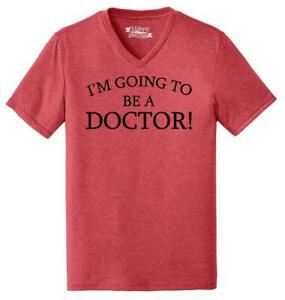 Mens I'm Going To Be A Doctor Triblend V-Neck Graduation Medical School Med