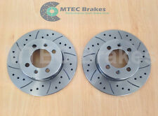 MG TF 115 120 135 Rear Drilled Grooved Brake Discs 02-