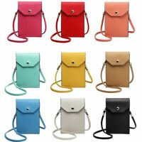 PU Leather Mobile Phone Bag Case Pouch Cross Body Purse Small Shoulder Bags