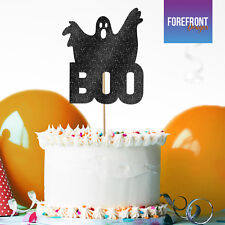 Custom HAPPY HALLOWEEN GHOST Boo GLITTER CAKE TOPPER party cake decoration gift