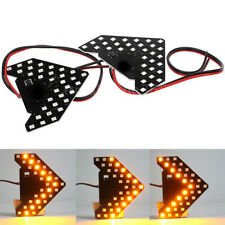 2PCS Amber 33-SMD Sequential LED Arrows for Car Side Mirror Turn Signal Lights