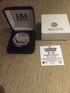 Very Rare London Series New York Yankees Red Sox Commemorative Coin '19 Baseball