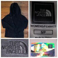 The North Face Women's Black Full Zip Cotton Hoodie Sweater Size Small