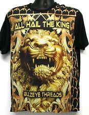 Bulzeye Threads Men's Casual T-Shirt Size M NWOT $89 Black All Hail The King
