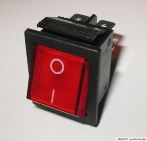 Einbauschalter Geräte Schalter Wippschalter Netzschalter beleuchtet 2-Polig 230V