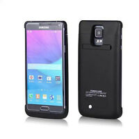 For Samsung Galaxy Note 4 External Battery Power Bank Case 4800mAh Charger US