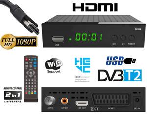 DECODER DIGITALE TERRESTRE DVB-T2 H265 HEVC RICEVITORE SMART FULL HD 2021
