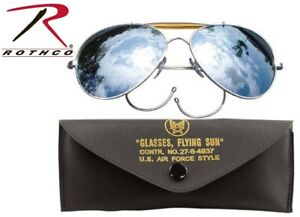 Mirrow Lense US Air Force Style Military Sunglasses With Case 58mm 10201 Rothco