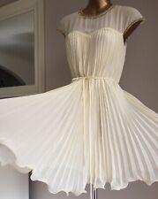 BEAUTIFUL TED BAKER 3 CREAM IVORY KACE PLEAT EMBELLISHED WEDDING DRESS BELT 12