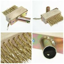 Wood Hard Wire Weed Brush Heads For Weeding Driveway Paving Slabs Garden 1Pcs