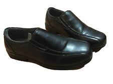 CHEROKEE Boys's Black Slip on Dress Loafer Comfort zone non-marking  Sz 4
