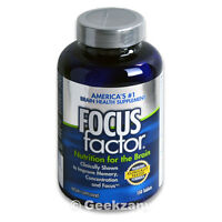 Focus Factor Nutrition for the Brain, America's #1 Brain Health,150 Tablets -New