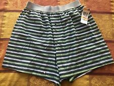 Alfani Cotton Stretch Buttonfly Boxer Black Stripe Print Size Small 28-30 New