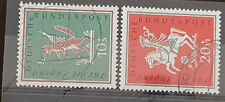 Germany BRD Bundespost 1958 MI 286-287 Jugend Volkslieder gestempelt used