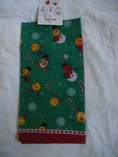 "Bandana Dog Puppy People Christmas EMOJI Scarf Neck Holiday 100% cotton 1 Sz 22"""