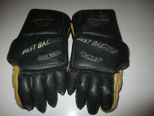 "Vintage Spalding ""Fast Back"" Hockey Gloves Jr Sz Leather & Vinyl In Great Shape"