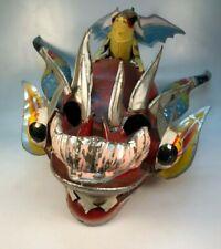 Vintage Bolivian Metal Mardi Gras Demon Mask