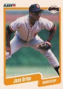 #74 Jose Uribe - San Francisco Giants - 1990 Fleer USA Baseball