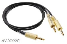 2ft Stereo 3.5mm Male to Dual 3.5mm Stereo Male Y-Splitter Audio Cable, AV-