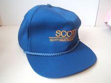 Scott Maritimes Limited Hat Vintage Blue Snapback Rope Baseball Cap