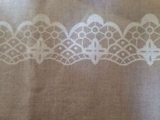 1 Metre Patterned Linen Band Fabric for Cross Stitch and Embroidery 190 Mm Wide