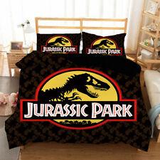 Jurassic World Dinosaur Quilt Cover Bedding Set 3PCS Duvet Cover Pillowcase Gift