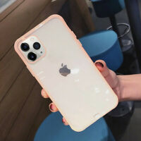 For iPhone 11 Pro Max XS XR X 8 7 6 Plus Shockproof Bumper Clear Soft Case Cover