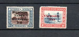 """SouthWest Africa 1931 old overprinted """"Cigarete"""" stamps (Michel 142+153) used"""