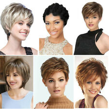 Fashion Lady Women Short Curly Wigs Brown Blonde Boycut Pexie Wig Party Cosplay