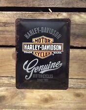 Harley Davidson Genuine Motorcycles medium Vintage Retro Tin Signs.