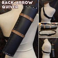 Archery Arrow Holder Shoulder Bag Back Quiver Hunting Sport Pouch Belt Tube UK